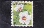 Stamps Asia - South Korea -  flores-