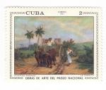 de America - Cuba -  Obras de arte museo nacional. La Carreta