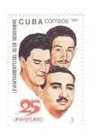 de America - Cuba -  XXV Aniversario del levantamiento del 30 de Noviembre