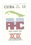 de America - Cuba -  XX Aniversario Radio Habana