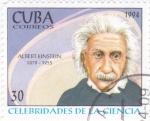 Stamps : America : Cuba :  Albert Einstein-CELEBRIDADES DE LA CIENCIA