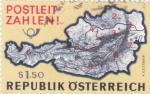 Sellos del Mundo : Europa : Austria :  mapa de Austria