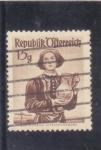 Stamps : Europe : Austria :  traje regional austriaco