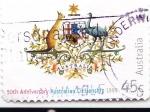 Stamps : Oceania : Australia :  50 aniversario Australian Citizenship