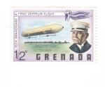 Sellos del Mundo : America : Granada : 75 aniversario del primer vuelo en zepelín
