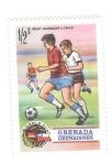 Sellos del Mundo : America : Granada : Mundial de futbol 1974. Alemania del oeste-Chile