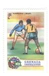 Sellos del Mundo : America : Granada : Mundial de futbol 1974. Yugoslavia-Brasil