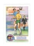 Sellos del Mundo : America : Granada : Mundial de futbol 1974. Alemania del este-Australia