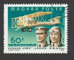 Sellos de Europa - Hungría -  Vuelo de Alcock y Brown en un vickers