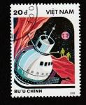 Sellos de Asia - Vietnam -  Nave espacial