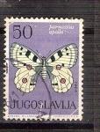 Sellos del Mundo : Europa : Yugoslavia : mariposa RESERVADO