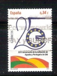 Stamps : Europe : Spain :  25 anv adhesion U.E RESERVADO