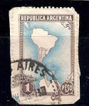 Stamps of the world : Argentina :  mapa