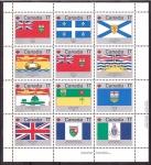 de America - Canadá -  Fiesta Nacional- banderas y escudos
