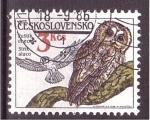 Sellos de Europa - Checoslovaquia -  Ave rapaz nocturna
