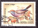 Sellos de Europa - Rusia -  serie- Pajaros y flores