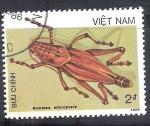 Stamps Vietnam -  saltamontes RESERVADO