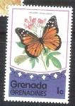 Stamps Grenada -  mariposa