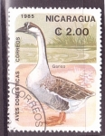 Stamps Nicaragua -  serie- Aves domesticas