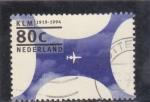 Sellos de Europa - Holanda -  75 aniversario de la KLM
