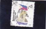 Sellos de Asia - Filipinas -  AGUILA Y BANDERA