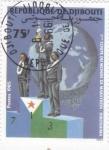Sellos del Mundo : America : Djibouti :  copa del mundo de marathon-Hiroshima