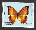 Stamps United Arab Emirates -  Mi1021A - Mariposa