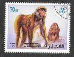 Sellos de Asia - Emiratos Árabes Unidos -  Mi1533A - Monos