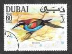 Sellos de Asia - Emiratos Árabes Unidos -  Yt100A-F - Áve