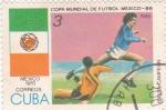 Stamps : America : Cuba :  Copa Mundial de Futbol México-86