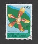 Stamps Benin -  Phalaenopsis fuscata