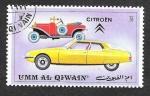 Sellos de Asia - Emiratos Árabes Unidos -  Yt107C - Automóviles