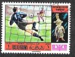 Sellos de Asia - Emiratos Árabes Unidos -  YtPA31A - Campeonato Mundial de Fútbol México 70