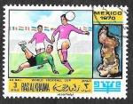 Sellos de Asia - Emiratos Árabes Unidos -  YtPA31C - Campeonato Mundial de Fútbol México 70