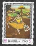 Stamps United Arab Emirates -  Yt45L -  Pinturas de Galerías de Londres, Munich y São Paulo