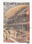 Stamps : Africa : São_Tomé_and_Príncipe :  150 ANIVERSARIO NACIMIENTO DE ZEPPELIN