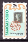 Stamps Oceania - Samoa -  100 aniversario Sir Rowland Hil