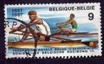 Sellos de Europa - Bélgica -  Piraguismo
