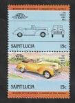 Stamps Saint Lucia -  728 y 729 - Automóviles