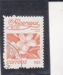 Stamps : America : Nicaragua :  flores-
