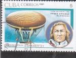 Sellos de America - Cuba -  primer dirigible elipsoidal-J.B.M. Meusnier