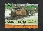 Sellos del Mundo : America : Santa_Lucía : Locomotora
