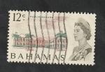Sellos del Mundo : America : Bahamas : 249 - Elizabeth II, y Plaza Pública