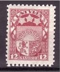 Sellos de Europa - Letonia -  Escudo Nacional
