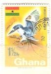 Sellos de Africa - Ghana -  Martín pescador RESERVADO