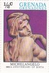 Stamps : Asia : Grenada :  500 Aniversario Michelangelo