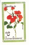 Sellos del Mundo : Africa : Guinea_Ecuatorial : flores- ROSA MARY