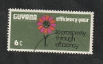Stamps : America : Guyana :  299 - Flor