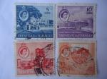 Stamps Trinidad y Tobago -  Queen Elizabeth II-Hhitehall,Port of Spain-Serie:Local Scenes - Año 1960