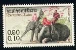 Stamps Asia - Laos -  Elefantes con cestas